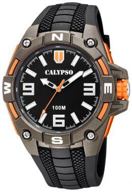 Calypso Herrenuhr Armbanduhr K5761/4 schwarz braun
