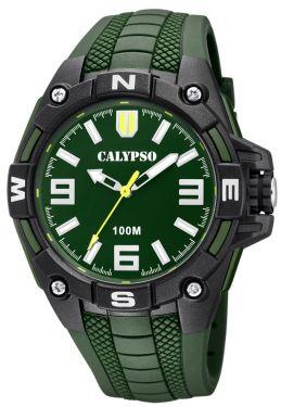 Calypso Herrenuhr Armbanduhr K5761/5 grün schwarz