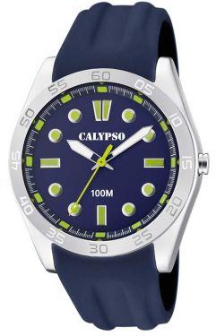 Calypso Uhr Armbanduhr blau analog Herren Uhr K5763/6