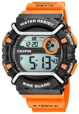 Calypso Armbanduhr Digital K5764/1 orange Sportuhr