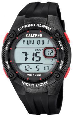 Calypso Digitaluhr Armbanduhr K5765/3 schwarz rot