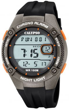 Calypso Digitaluhr Armbanduhr K5765/4 schwarz grau