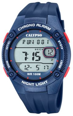 Calypso Digitaluhr Armbanduhr K5765/6 blau rot