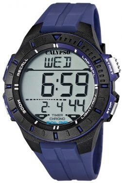 Calypso by Festina Uhr Digital Herrenuhr K5607/2 blau schwarz Digitaluhr