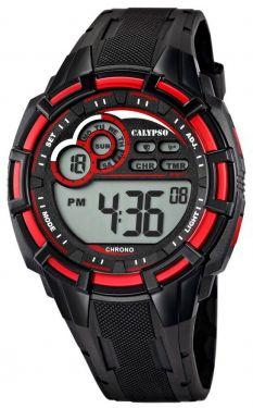 Calypso by Festina Herren Digital Uhr K5625/4 schwarz rot 10 ATM
