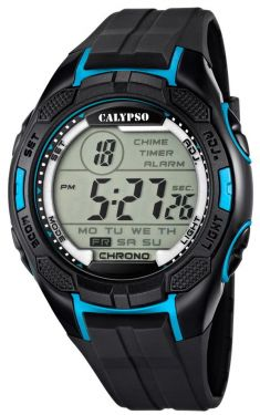 Calypso by Festina Herren Digital Uhr K5627/2 schwarz blau 10 ATM