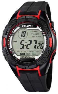 Calypso by Festina Herren Digital Uhr K5627/3 schwarz rot 10 ATM