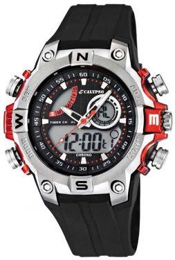 Calypso by Festina Herren AnaDigi-Uhr K5586/1 schwarz Silikon Armbanduhr