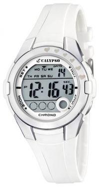 Calypso Uhr Mädchen Kinderuhr Digital K5571/1 weiß Teen-Uhr