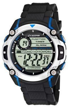 Calypso by Festina Uhr K5577/2 Digital schwarz blau Herrenuhr Digitaluhr