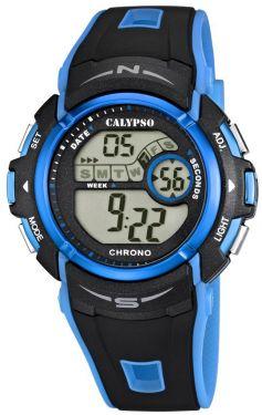 Calypso by Festina Unisex Uhr K5610/6 schwarz blau Digitaluhr 10 Bar