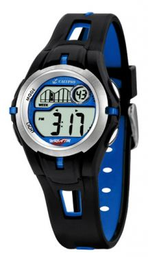 Calypso by Festina Kinder Uhr digital K5506/3 schwarz blau Armbanduhr Silikon