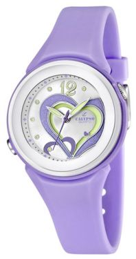 Calypso Armbanduhr Damen Mädchen Uhr lila K5576/4 Herz