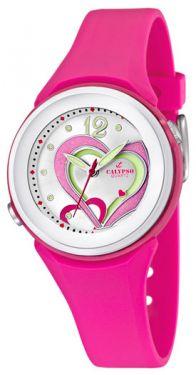 Calypso Armbanduhr Damen Mädchen Uhr pink K5576/5 Herz