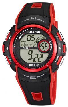 Calypso Uhr Herren Digital K5610/5 schwarz rot