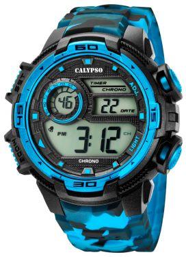Calypso Armbanduhr Digital Herrenuhr K5723/4 schwarz blau
