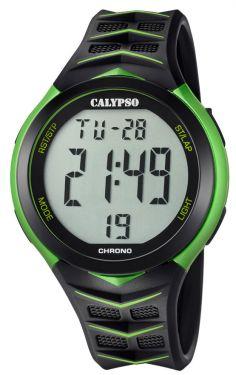 Calypso Uhr Digitaluhr K5730/4 schwarz grün