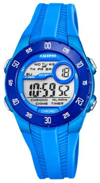 Kinder Digital Uhr Calypso Girl Teenager Watch K5744/5 blau