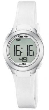Calypso Jugenduhr Armbanduhr Digitaluhr K5677/1 weiß