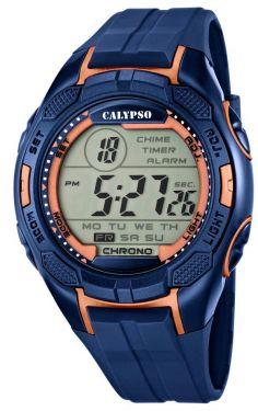 Calypso by Festina Herren Digital Uhr K5627/9 blau kupfer Herrenarmbanduhr