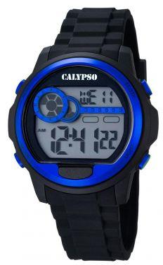 Calypso Digital Herrenuhr K5667/3 Digital Uhr schwarz blau