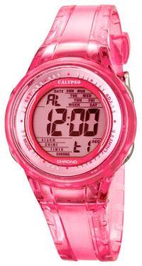 Calypso Jugenduhr Armbanduhr Digitaluhr K5688/2 pink transparent