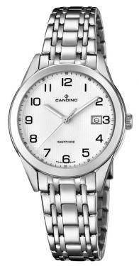Candino Damenuhr C4615/1 Edelstahl Armbanduhr Saphirglas Swiss Made