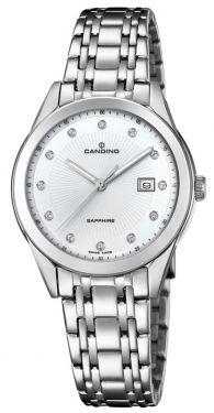 Candino Damenuhr C4615/3 Edelstahl Armbanduhr Saphirglas Swiss Made