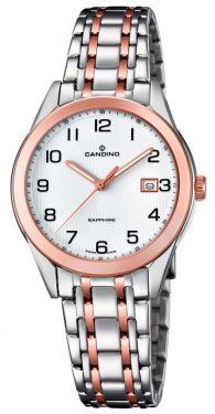 Candino Damenuhr C4617/1 Armbanduhr Saphirglas Swiss Made