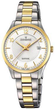Candino Damenuhr C4632/1 Bicolor Armbanduhr Swiss Made