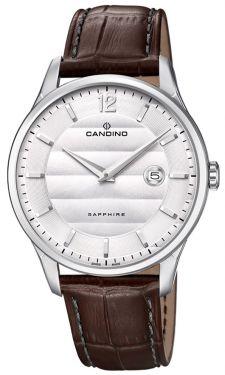 Herrenuhr Candino Armbanduhr Lederband braun Swiss Made C4638/1