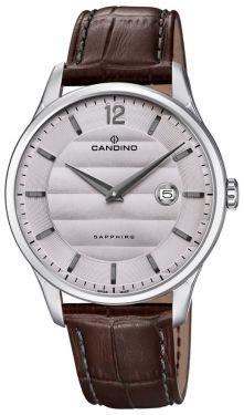 Herrenuhr Candino Armbanduhr Lederband braun Swiss Made C4638/2