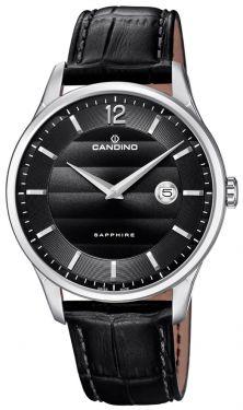 Herrenuhr Candino Armbanduhr Lederband Swiss Made C4638/4