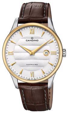 Herrenuhr Candino Armbanduhr Lederband braun C4640/1