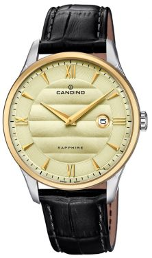 Herrenuhr Candino Armbanduhr Lederband schwarz C4640/2