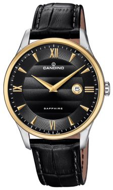 Herrenuhr Candino Armbanduhr Lederband schwarz C4640/4