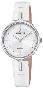 Candino Damenuhr C4648/1 Armbanduhr Lederarmband weiß