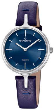 Candino Damenuhr C4648/2 Armbanduhr Lederarmband blau