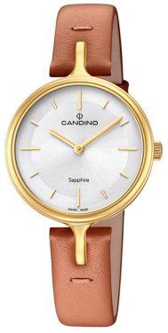 Candino Damenuhr C4649/1 Armbanduhr Lederarmband braun