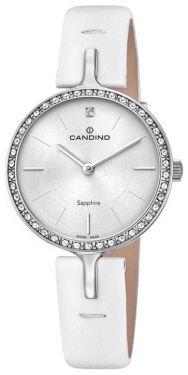 Candino Damenuhr C4651/1 Armbanduhr Lederarmband weiß