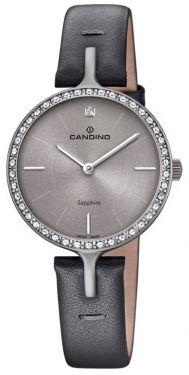 Candino Damenuhr C4652/1 Armbanduhr Lederarmband schwarz