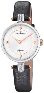 Candino Damenuhr C4658/2 Armbanduhr Lederarmband schwarz