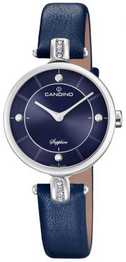 Candino Damenuhr C4658/3 Armbanduhr Lederarmband blau
