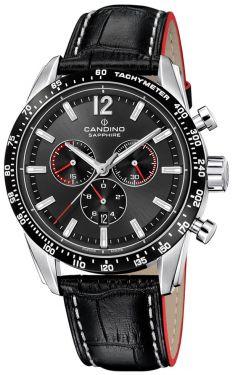 Candino Herrenuhr Sport Chronograph Lederarmband C4681/2