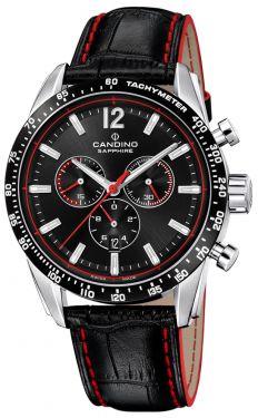 Candino Herrenuhr Sport Chronograph Lederarmband C4681/4