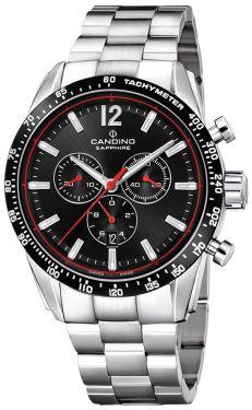 Candino Herrenuhr Sport Edelstahl Chronograph C4682/4