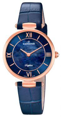 Candino Damenuhr Armbanduhr Lederarmband blau C4671/2