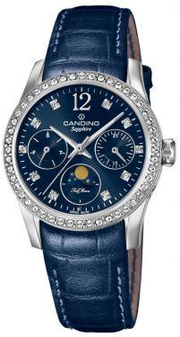 Candino Damen Armbanduhr C4684/2 Mondphase Saphirglas Lederarmband