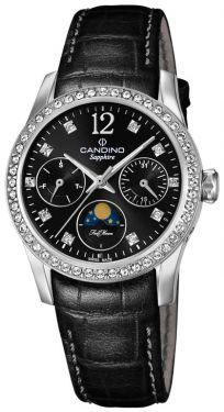 Candino Damen Armbanduhr C4684/3 Mondphase Saphirglas Lederarmband