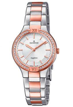 Candino Damenuhr C4628/1 Bicolor Armbanduhr Swiss Made